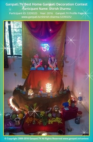 Shirish Sharma Ganpati Decoration