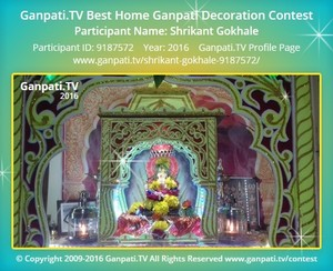 Shrikant Gokhale Ganpati Decoration