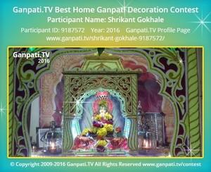 Shrikant Gokhale Ganpati Decoration