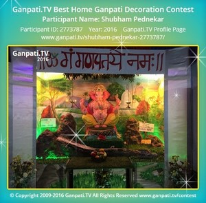 Shubham Pednekar Ganpati Decoration