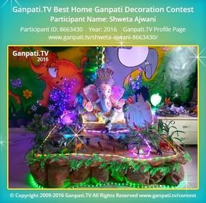 Shweta Ajwani Ganpati Decoration