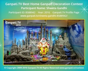 Shweta Gandhi Ganpati Decoration