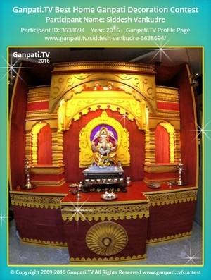 Siddesh Vankudre Ganpati Decoration