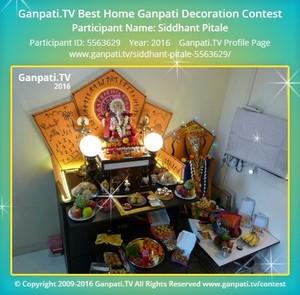 Siddhant Pitale Ganpati Decoration