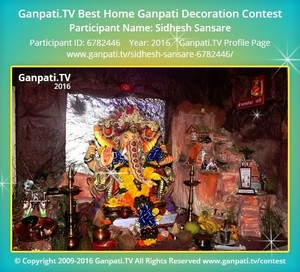 Sidhesh Sansare Ganpati Decoration