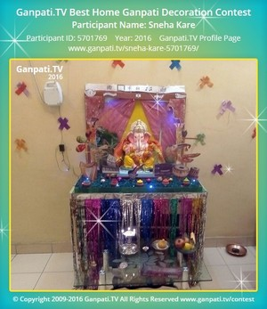 Sneha Kare Ganpati Decoration