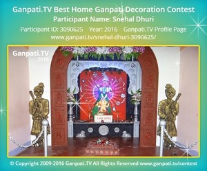 Snehal Dhuri Ganpati Decoration