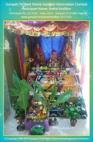 Snehal Kodilkar Ganpati Decoration