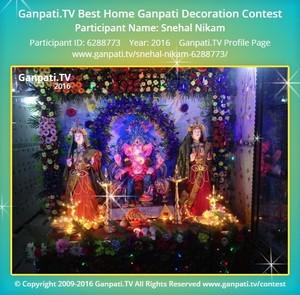 SNEHAL NIKAM Ganpati Decoration