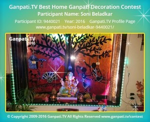 Soni Beladkar Ganpati Decoration
