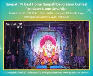 Sonu Vijan Ganpati Decoration