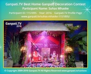 Suhas Mhaske Ganpati Decoration