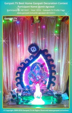 Sumit Agrawal Ganpati Decoration
