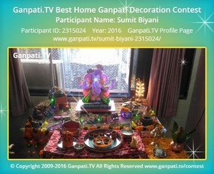 Sumit Biyani Ganpati Decoration