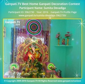 Sumita Devadiga Ganpati Decoration