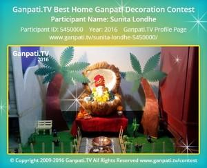 Sunita Londhe Ganpati Decoration