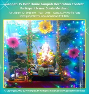 Sunita Merchant Ganpati Decoration