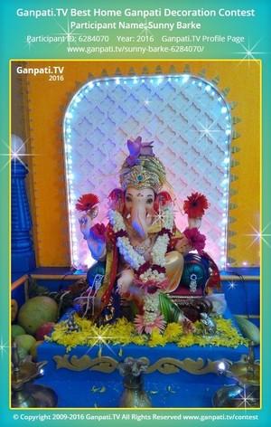 Sunny Barke Ganpati Decoration