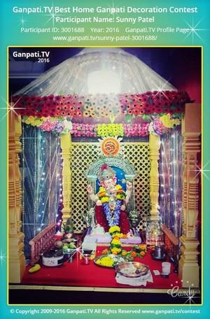 Sunny Patel Ganpati Decoration