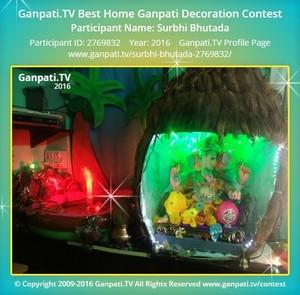 Surbhi Bhutada Ganpati Decoration