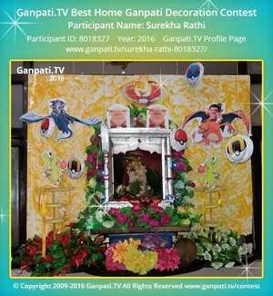 Surekha Rathi Ganpati Decoration