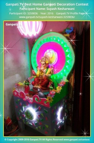 Suyash Kesharwani Ganpati Decoration