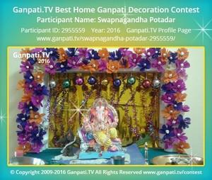 Swapnagandha Potadar Ganpati Decoration