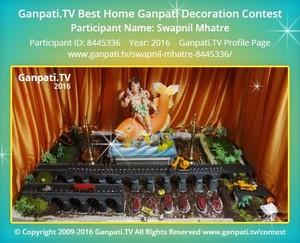 Swapnil Mhatre Ganpati Decoration