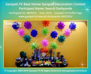 Swarali Deshpande Ganpati Decoration
