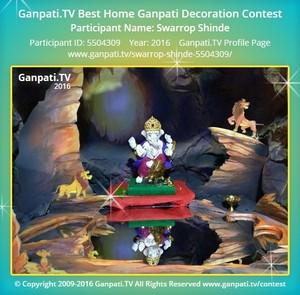 Swarrop Shinde Home Ganpati Picture