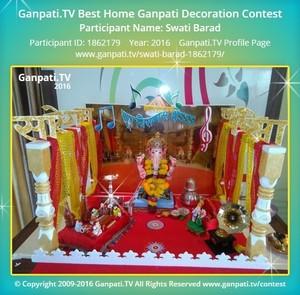 Swati Barad Ganpati Decoration