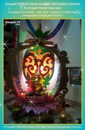 Swati Jain Ganpati Decoration