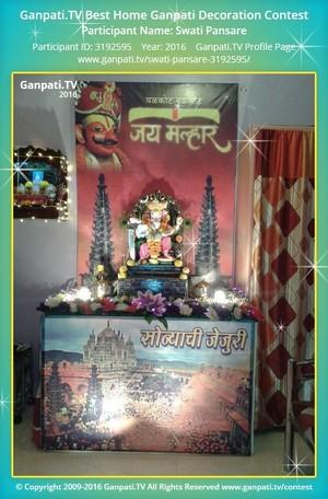Swati Pansare Ganpati Decoration