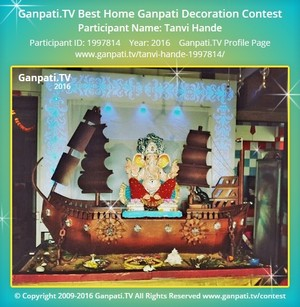 Tanvi Hande Ganpati Decoration