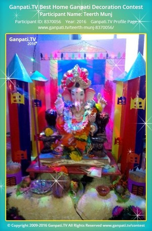 Teerth Munj Ganpati Decoration