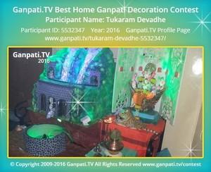 Tukaram Devadhe Ganpati Decoration