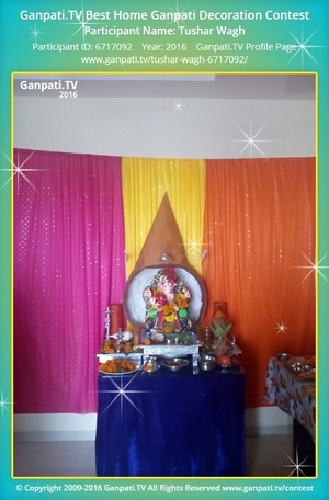 Tushar Wagh Ganpati Decoration