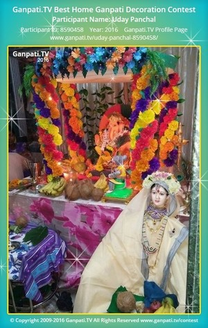 Uday Panchal Ganpati Decoration