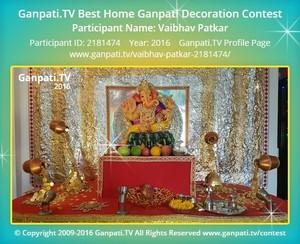 Vaibhav Patkar Ganpati Decoration