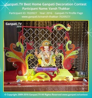 Vansh Thakkar Ganpati Decoration