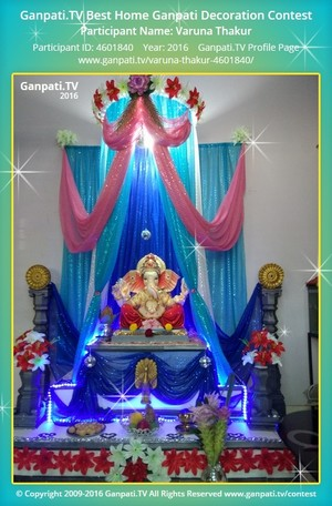 Varuna Thakur Ganpati Decoration