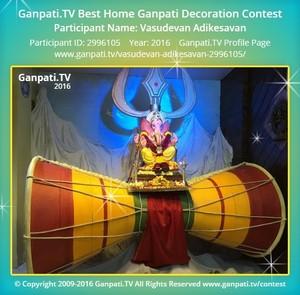 Vasudevan Adikesavan Ganpati Decoration