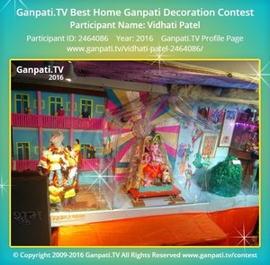 Vidhati Patel Ganpati Decoration