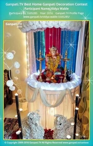 Vidya Wable Ganpati Decoration