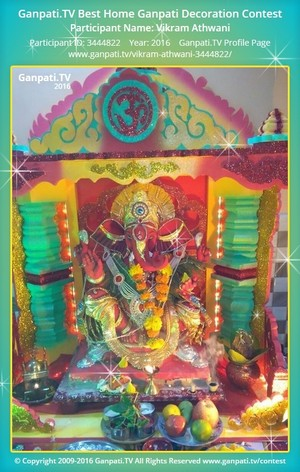 Vikram Athwani Ganpati Decoration