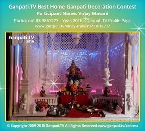 Vinay Mavani Ganpati Decoration