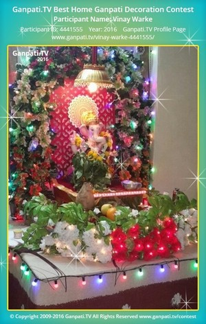 Vinay Warke Ganpati Decoration
