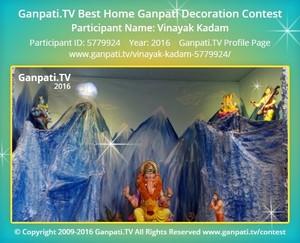 Vinayak Kadam Ganpati Decoration