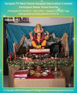 Vinita Panchal Ganpati Decoration