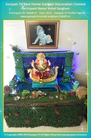Vishal Sanghani Ganpati Decoration